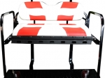 RIPTIDE White/Red Cushion Set