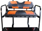 RIPTIDE Black/Orange Cushion Set