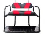 WAVE Black/Red Two-Tone Cushion Set