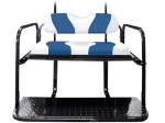 WAVE White/Blue Two-Tone Cushion Set