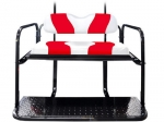 WAVE White/Red Two-Tone Cushion Set