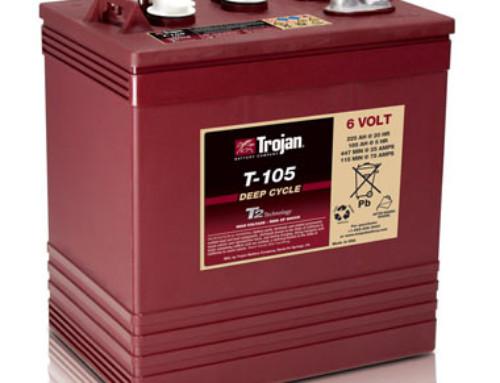 Trojan T-105 6-Volt Golf Car Battery