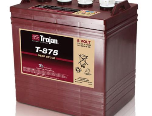 Trojan T-875 8-Volt Golf Car Battery