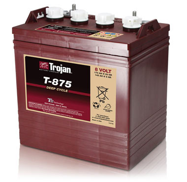 Trojan T-875 8-Volt Golf Car Battery
