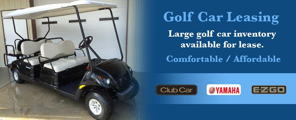 A large inventory of golf cars available for leasing at Brad's Golf Cars.