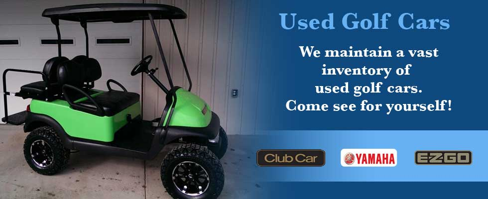 Brad's Golf Cars has a vast used golf cart inventory.