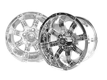 Used Tires Greensboro Nc >> Octane 14×7 Chrome Wheel | Brad's Golf Cars, Inc. - The ...