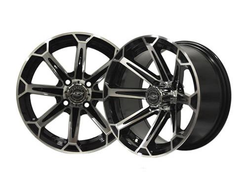 Vortex 12×7 Machined/Black Wheel