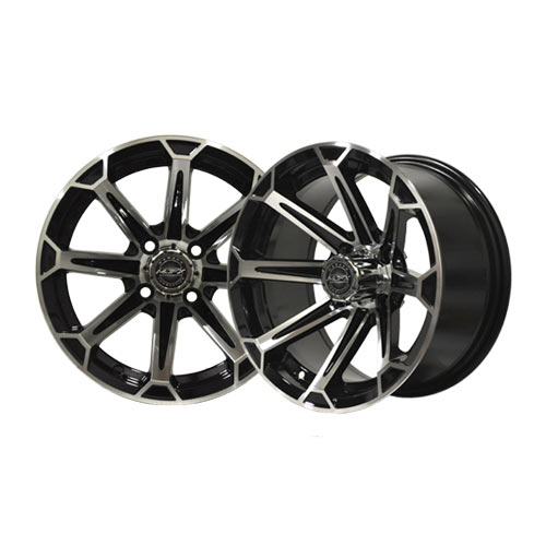 Vortex 12x7 Machined/Black Wheel