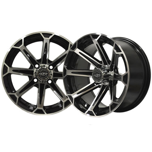 Vortex 14x7 Machined/Black Wheel