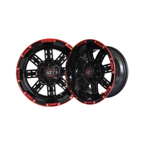 Transformer 12x7 Black/Red Wheel