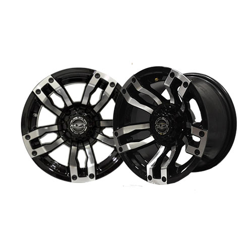 Velocity 14x7 Machined/Black Wheel