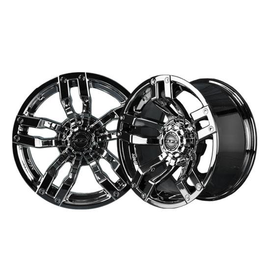 Velocity 12x7 Black Chrome Wheel
