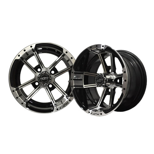 Apex 12x7 Machined/Black Wheel