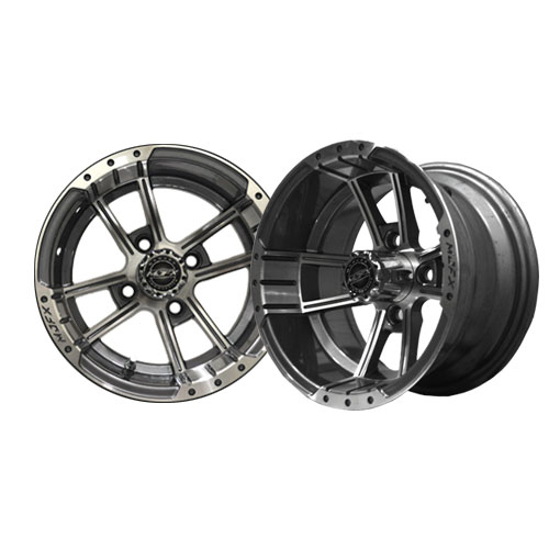 Apex 12x7 Machined/Gunmetal Grey Wheel