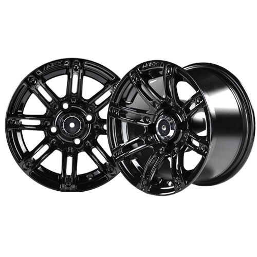 Illusion 14×7 Black Wheel with Silver Inserts