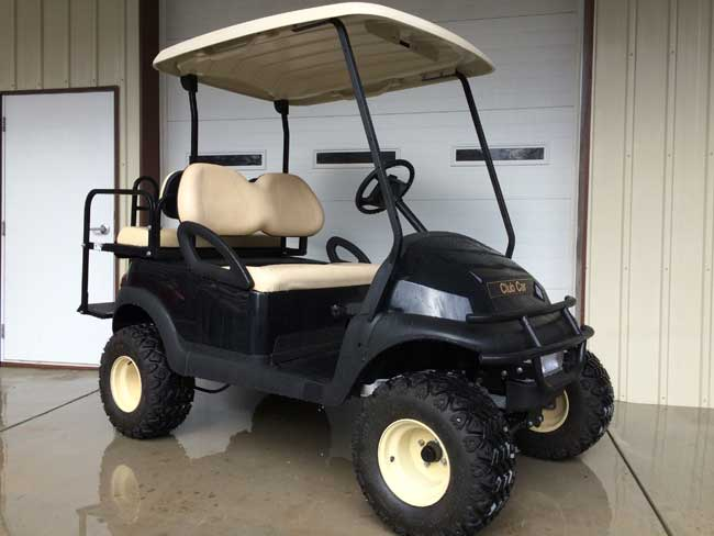 Black Club Car Precedent electric and lifted