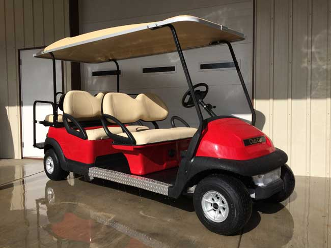 Used Tires Greensboro Nc >> Red Club Car Precedent 6 Seater! | Brad's Golf Cars, Inc. - The Golf Cart Leader in the Triad of ...