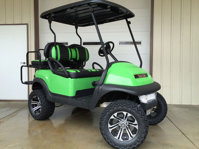 2011 Lime Green Lifted Club Car Precedent
