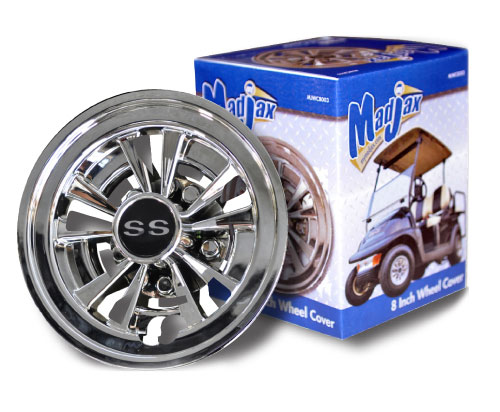 "10-Spoke SS Wheel Cover for 8"" Steel Wheels"