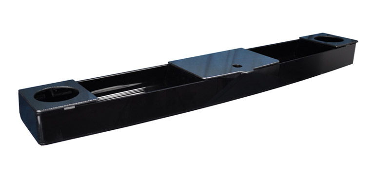 Black Acrylic Console with Carbon Accent