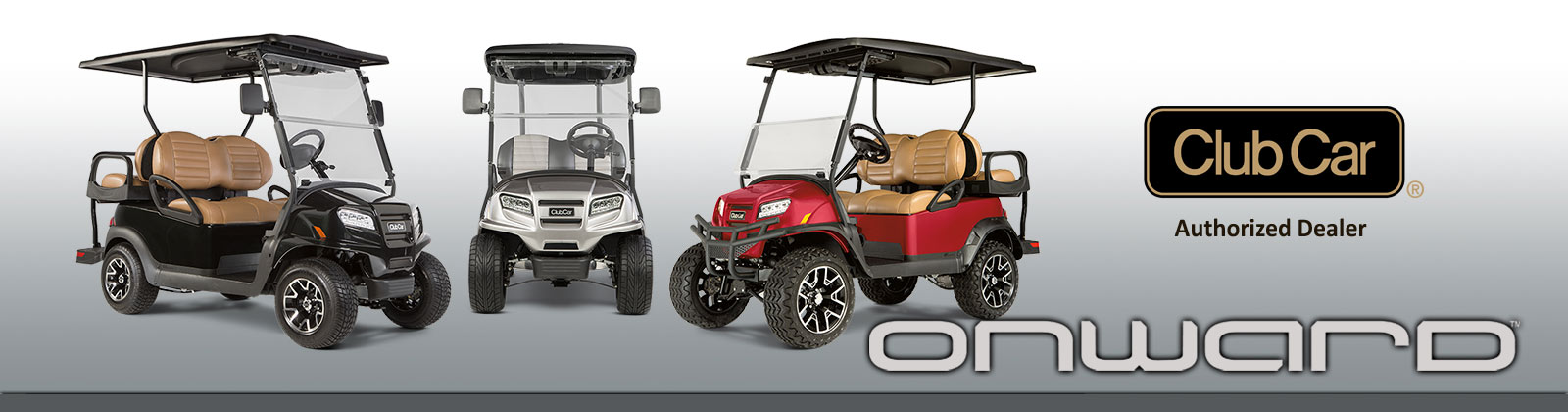 A large inventory of golf cars available for leasing at Brad's Golf Cars
