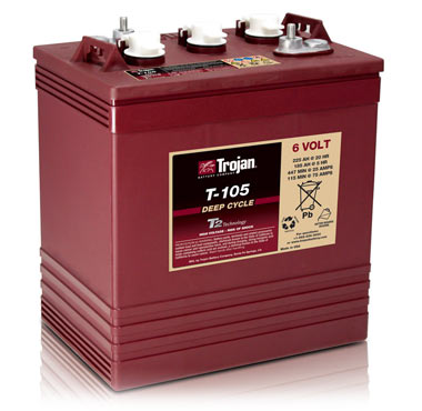 Used Cars Winston Salem Nc >> Trojan T-105 6-Volt Golf Car Battery | Brad's Golf Cars ...