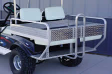 Flip Seat with Bed Sides and Tailgate Golf Car Bed