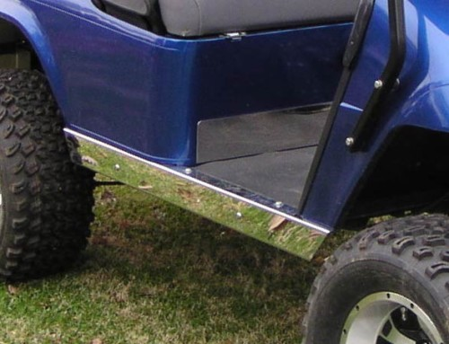 Stainless Steel Rocker Panels for EZGO, Club Car, or Yamaha