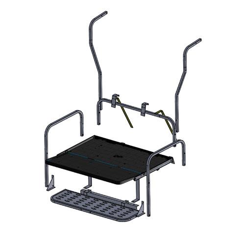 Club Car DS Frame Only Rear Flip Seat Kit