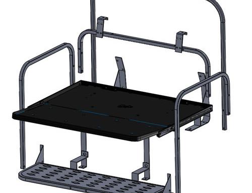 EZGO TXT Frame Only Rear Flip Seat Kit