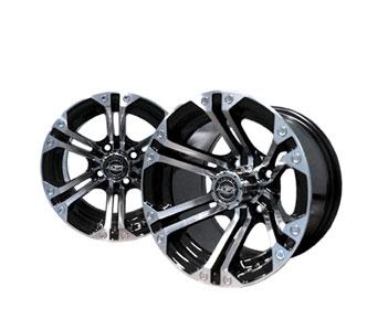 Nitro 12x7 Machined/Black Wheel