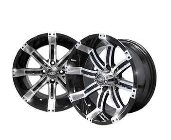 Octane 14x7 Machined/Black Wheel
