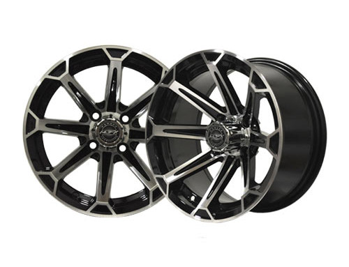 Vortex 12×7 Machined/Black Wheel