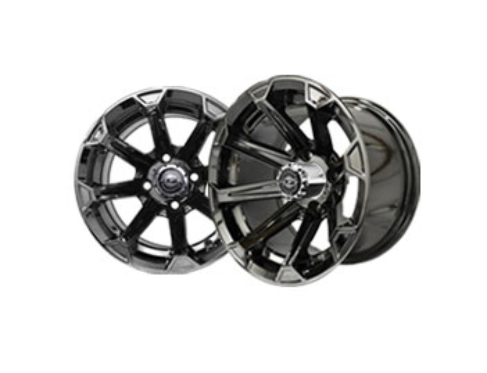 Vortex 12×7 Black Chrome Wheel