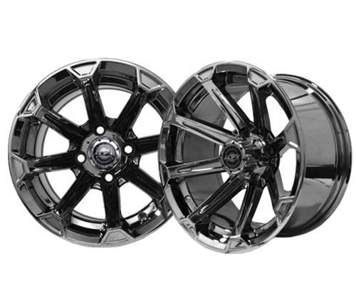 Used Cars Charlotte Nc >> Vortex 14×7 Black Chrome Wheel | Brad's Golf Cars, Inc ...