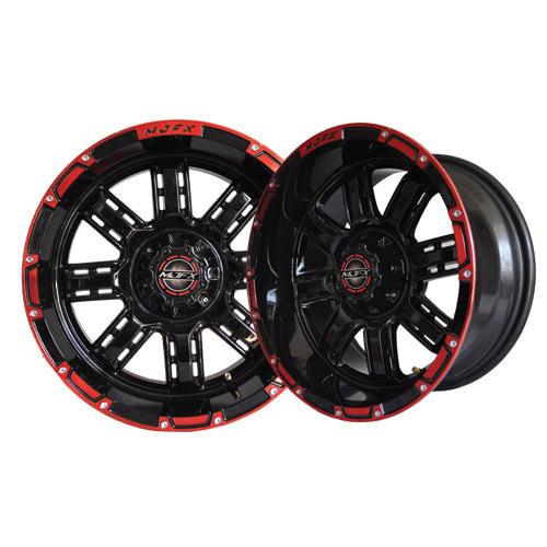 Transformer 14x7 Black/Red Wheel