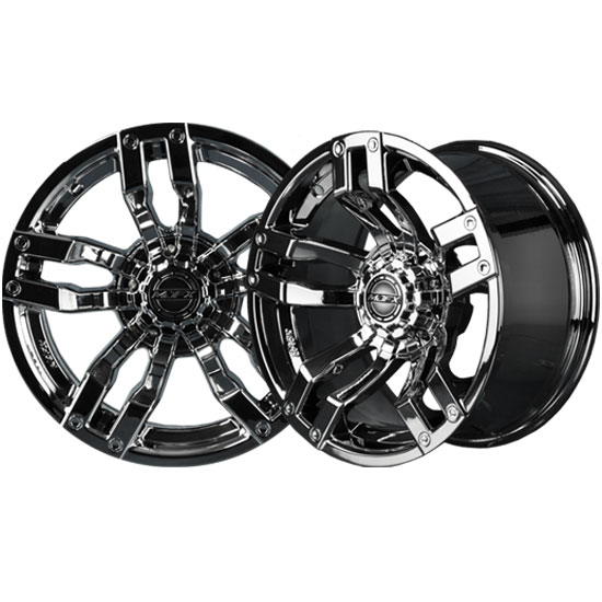 Velocity 14x7 Black Chrome Wheel