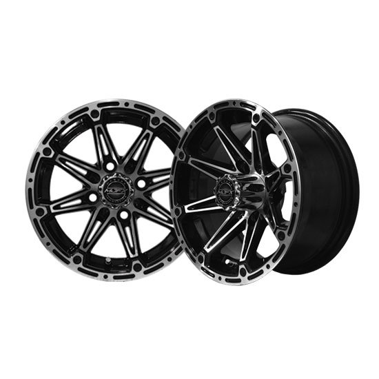Element 12x6 Machined/Black Wheel