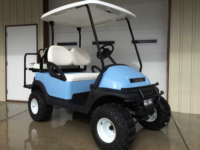 Sky Blue Lifted Club Car Precedent | Brad's Golf Cars, Inc