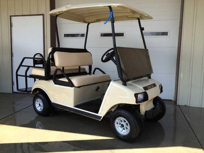 Gold Standard Club Car Ds In Beige Brad S Golf Cars Inc