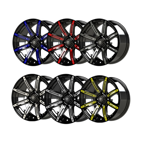 Illusion 12x7 Black Wheel Color Inserts