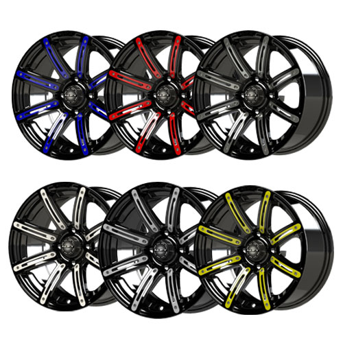 Illusion 14x7 Black Wheel Color Inserts