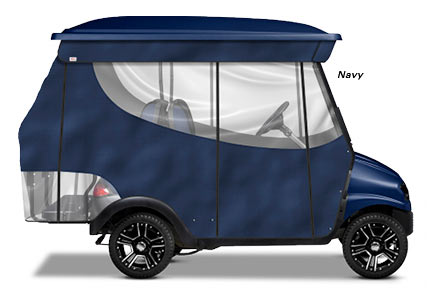 Doubletake® Classic Track Golf Car Enclosure - 4 Passenger