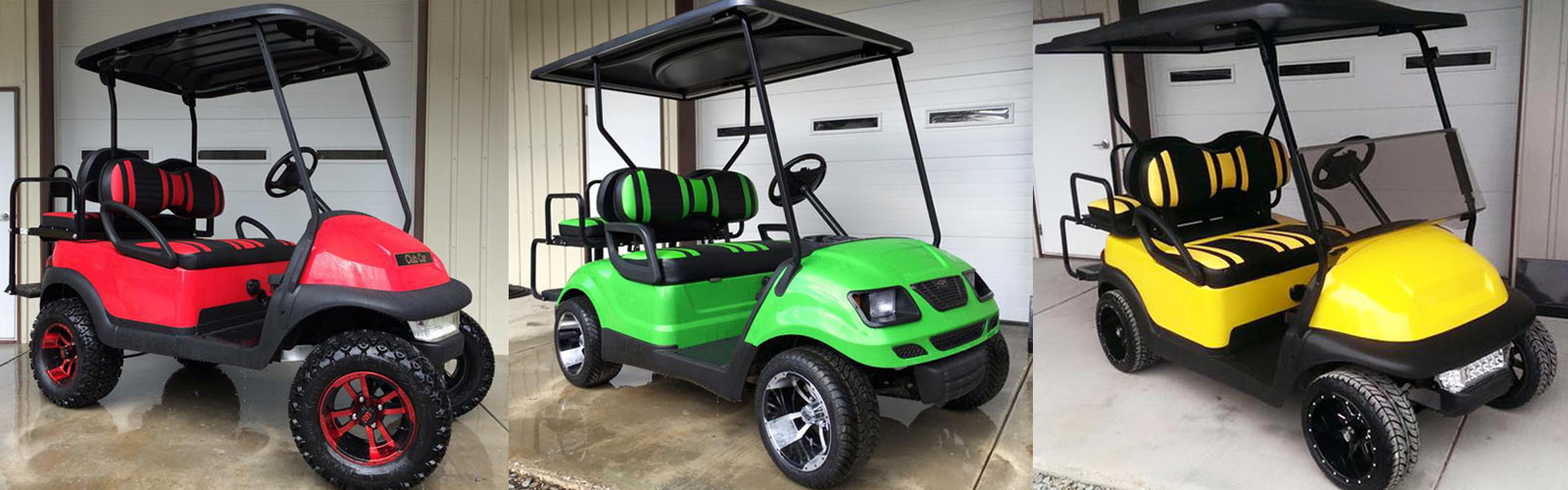 Brad's Golf Cars has a vast New golf cart inventory!