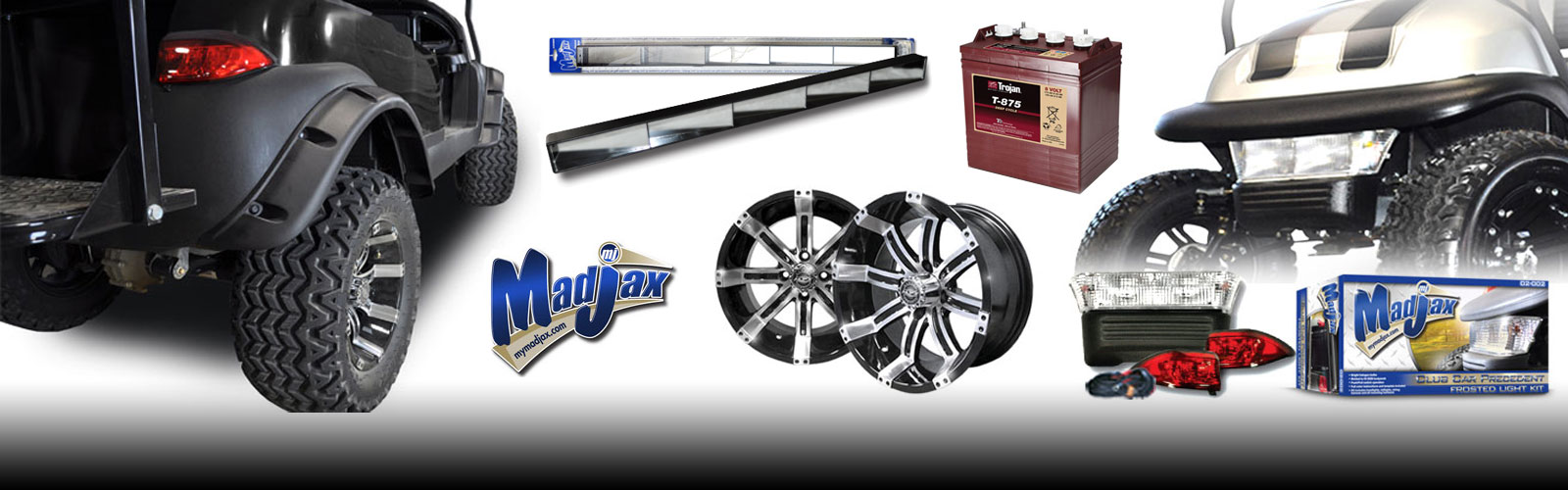 Brad's Golf Cars carries a large assortment of golf cart parts and accessories for most year model golf cars.